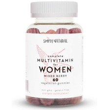 Simply Natural Multivitamin for Women Vegetarian Gummies Non GMO Gelatin Free