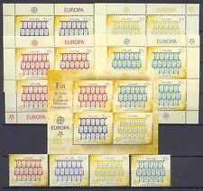 50 Jahre Europamarken, Cept- Fidschi-Inseln - 1109-1112, Bl.48 +4 KB ** MNH 2005