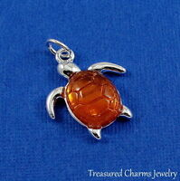 Silver SEA TURTLE Nautical Ocean CHARM PENDANT