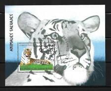 Animaux Tigre Sahara (79) bloc oblitéré