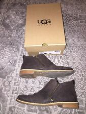 UGG Australia Clementine Leather Shearling Lined Womens Ankle Boot Brown Lodge