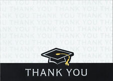50 Graduation Gold Accent Thank You Cards Notes High School or College