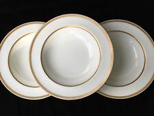 "(3)  Mintons For Tiffany & Co Gold Encrusted 9.5"" Soup Bowls (G8338)"