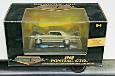ERTL / AMERICAN MUSCLE / GOLD 1965 PONTIAC GTO 1:64 SCALE DIE CAST CAR NIB