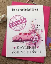 Large Personalised Card You've Passed your Driving Test for Ladies (and not)
