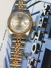 Rolex Datejust 18k Yellow Gold/Stainless Steel Grey Roman Dial Ladies Watch 6917