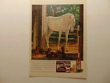 1946 WHITE HORSE SCOTCH WHISKEY Horse and Puppies  print ad