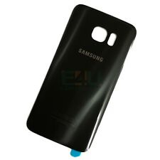 For Samsung Galaxy S7 Edge Back Glass Rear Battery Cover - Black Onyx
