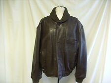 Mens Coat Next, size M, Brown, Real Leather, quilted satin lining 0042