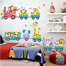 Wandaufkleber Kinderzimmer Junge Mädchen Tiere Wolken Schlafzimmer Wandsticker