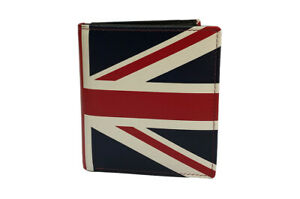 Genuine Leather Union Jack Flag Wallet Notes Coins & Cards - Scanproof RFID