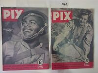 PIX MAGS X 2,1943/4 JULY 17&22,WW2 Covers,FIJIAN JUNGLE FIGHTER & LAND ARMY GIRL