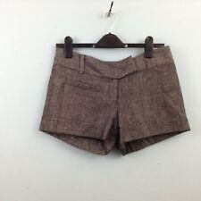 Jane Norman Womens shorts UK 10 grey fleck office work wear formal hot pants