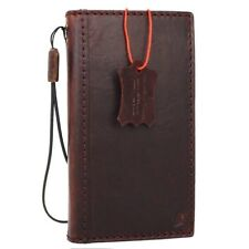 Full Leather Case for iPhone 7 Plus Credit Cards Slots id window wallet brown uk
