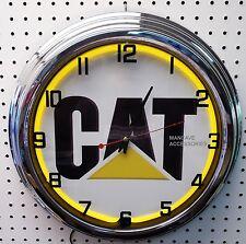 "17"" Caterpillar CAT Sign Single Neon Clock"