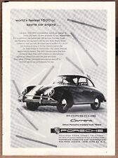 """1957 Porsche Carrera Ad """"World's fastest..."""""""