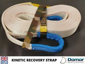 KINETIC RECOVERY SNATCH WINCH 4x4 TOWING/TOW ROPE STRAP OFFROAD 8TON