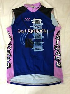 Voler Cycling Sleeveless Jersey Mens Large Outspoken Chicago