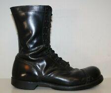 """Corcoran Mens 10"""" Jump Boots Sz 10.5 D Tactical Military Cap Toe Black Leather"""