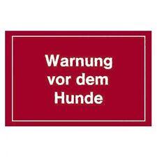 Warnschild Warnung vor dem Hunde
