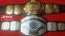 WWF WINGED EAGLE AND INTERCONTINENTAL Championship Belt Title Gold 4mm Adult