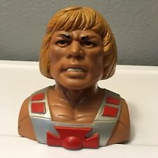 VINTAGE HE-MAN MASTER OF THE UNIVERSE BANK MATTEL 1984 WITH STOPPER