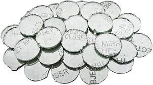 180 Pcs Craft Mirror Art Decorative Tiles DIY Project Round Shape Mirror MR24