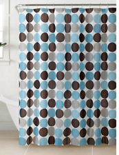 *70x72 Bath Bliss Woodford Peva Shower Curtain 12 Metal Gromments Bright Design