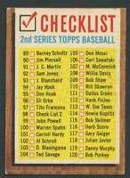 1962 Topps #98 Checklist 89-176 VG/VGEX 20822