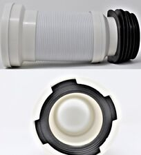 """4"""" PVC WC Flexible Toilet Waste Connector Pan Soil Expandable 270mm to 600mm"""