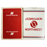 United & Northwest Airline Vintage 70's Playing Cards Airline Airplane Prop