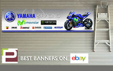 Yamaha Racing Banner, Sponsor Logos, Moto GP, Workshop, Garage, Valentino Rossi