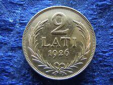 LATVIA 2 LATI 1926, KM8 stain
