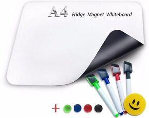 A4 Whiteboard Soft Flexible Magnetic Message Board Fridge Refrigerator Board