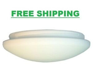 Frosted White Windward IV Ceiling Fan Glass Bowl Light Cover Replacement Kit