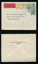 BURMA 1934 ROYAL STATIONERY SUPPLY CO AIRMAIL PRINTED ENVELOPE to SCOTLAND