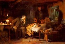 Luke Fildes Art Oil Painting on Canvas repro The Doctor