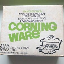 Vintage Corning Ware 1 QT Casserole Spice O Life A-1-8-SR NIB