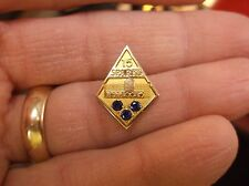 "RARE, DETAILED ""SPARKS"" 10K GOLD FILLED 15 YEAR SERVICE AWARD PIN, 3 SAPPHIRES"