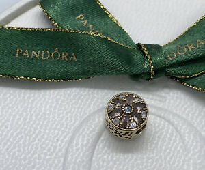 Pandora 14K Gold Opulent Floral Charm, 751003NBP Authentic Ale 585 Retired