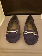Coach and Four Women's Size 8.5 Blue Velvet Flats Shoes