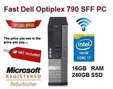 DELL Optiplex 790 Desktop Computer - Cheap Quad Core i7 PC - 16GB RAM 240GB SSD