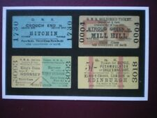 POSTCARD GREAT NORTHERN TICKETS - BICYCLE - SOLIDERS - 3RD CLASS