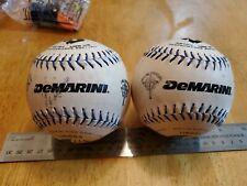 Lot of 2 softballs DeMarini Performance Softball Official Slow Pitch