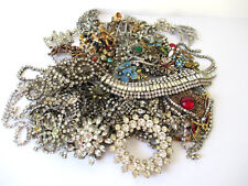 Vintage Rhinestone Necklaces Pendants Missing Stones for Jewelry Making Lot 64