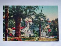 BORDIGHERA Via Regina Margherita Imperia vecchia cartolina