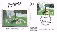France 1998 Picasso Le Printemps Silk FDC Unaddressed VGC