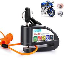 Motorcycle Billet Wheel Brake HD Alloy Lock Disc Bully Alarm Locks Bike Black