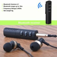 3.5mm Car AUX Bluetooth 4.1 Wireless Stereo Audio Music Receiver Adapter Mic NEW