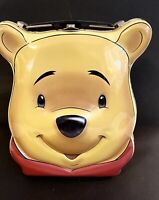 Vintage Disney Winnie The Pooh Head Metal Lunch Box Tin Collectible